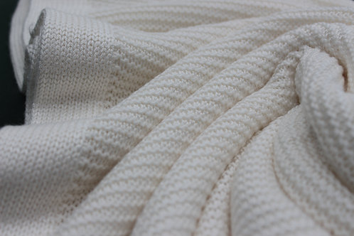 NEW Large Knitted Blanket - Ivory Moon