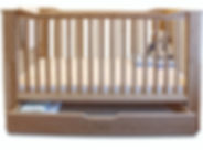Organic solid bamboo cot bed. Natural, chemical free nursery furniture made from bamboo.