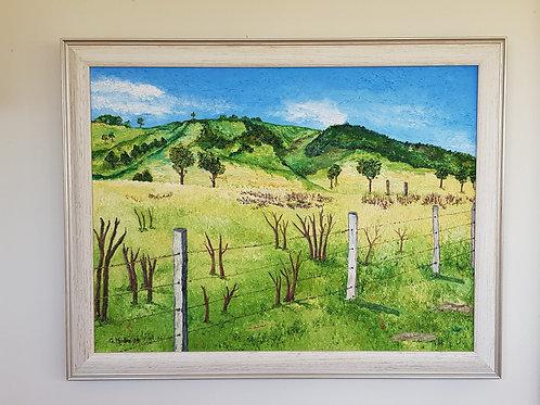 Paddock in Munni - Artist Greg Mudie