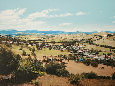 View of East Gresford NSW in memory of M