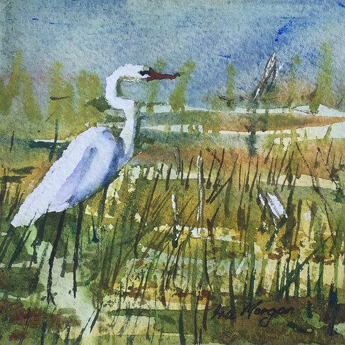 Egret - Artist: Ira Morgan