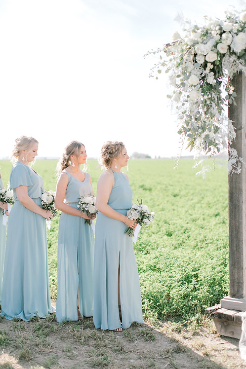 Just the Greens-Bridesmaids Bouquets