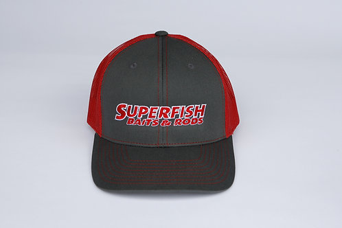 SuperFish grey/red Hat