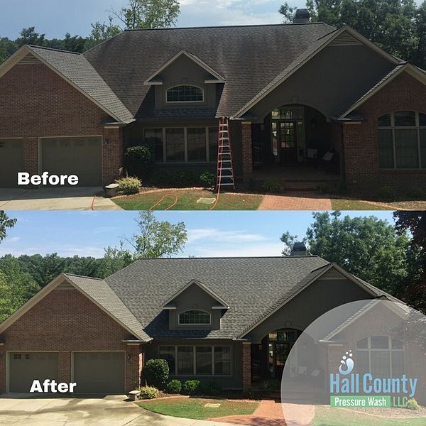 Power Washing Alpharetta Ga House Driveway Roof Gutters