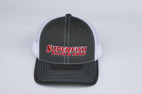 SuperFish grey/white Hat