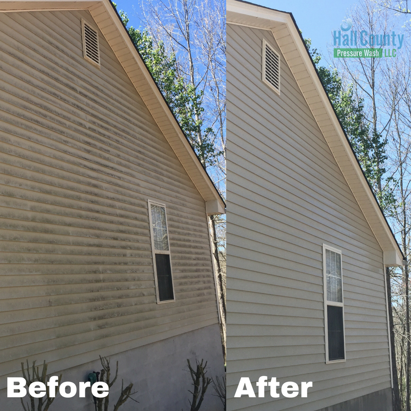 Pressure Washing Gutter Cleaning Before Amp After