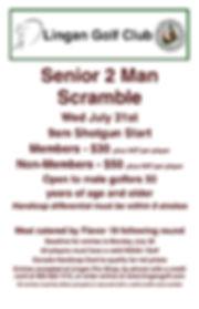 2019 Senior Scramble Tournament  Poster