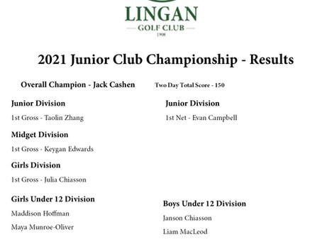 Jack Cashen Wins First Junior Club Championship