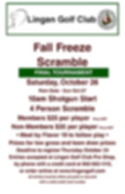2019 Fall Freeze Tournament Poster 11x17