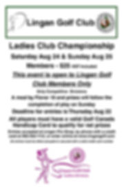2019 Ladies Club Championship Poster  11