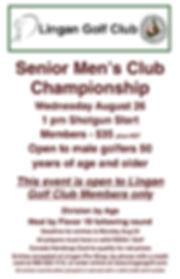2020 Senior Mens Club Championship Tourn