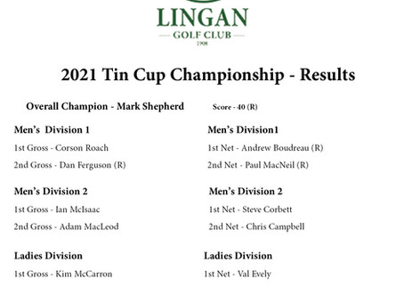 Mark Shepherd Wins Tin Cup - His Best Shot was with a 7 Iron
