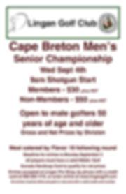 2019 CB Senior Mens Championship Tournam