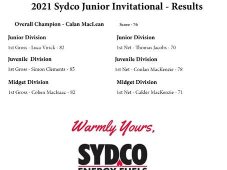 Calan MacLean wins Sydco Junior Invitational
