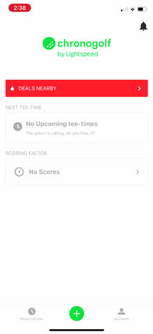 Member Booking on the Chronogolf App