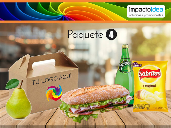 Paquete 4 Box Lunch Impactoidea