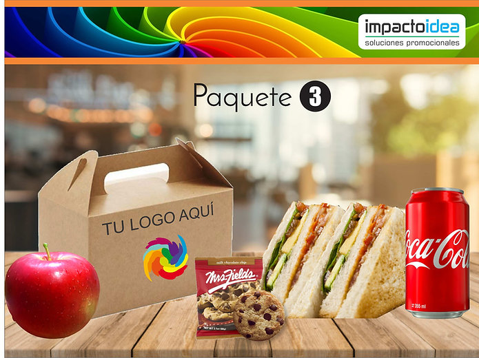 Paquete 3 Box Lunch Impactoidea