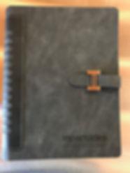 Libreta personalizada con láser.