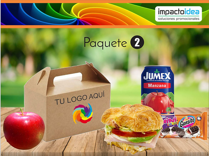 Paquete 2 Box Lunch Impactoidea