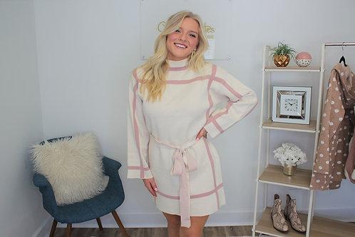 Line Sweater Dress