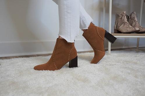 Studded Caramel Boots