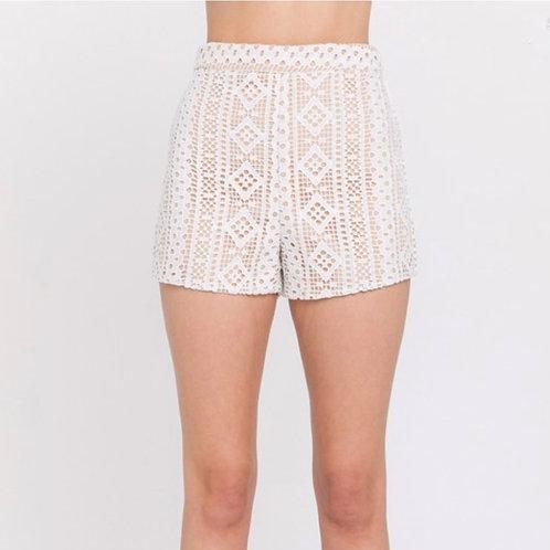 White Lace Set - Shorts