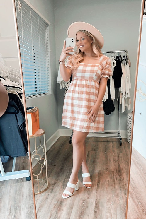 Baby Pink Gingham Dress