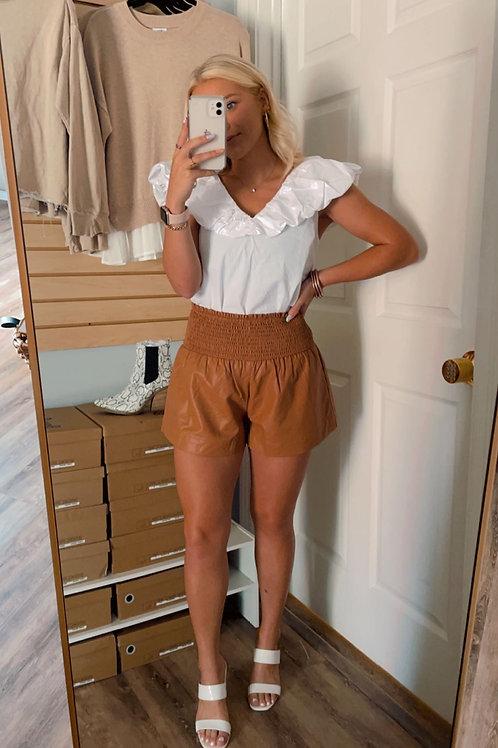 Camel Scrunch Shorts