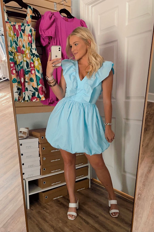 Baby Blue Puff Dress