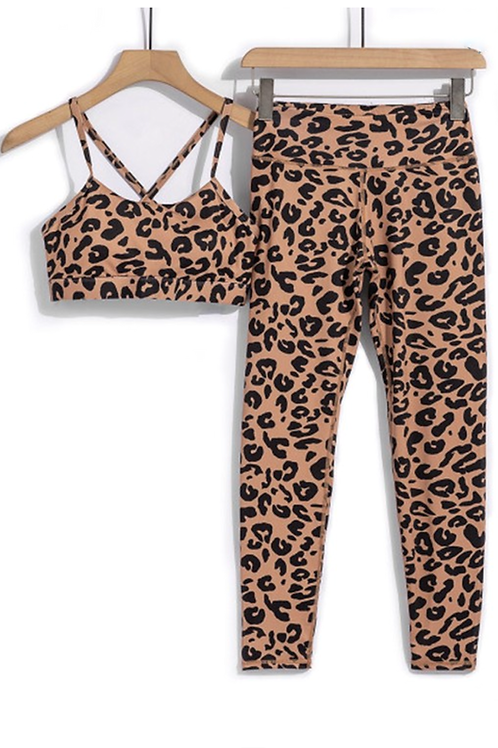 Leopard Athletic Set - Bottoms