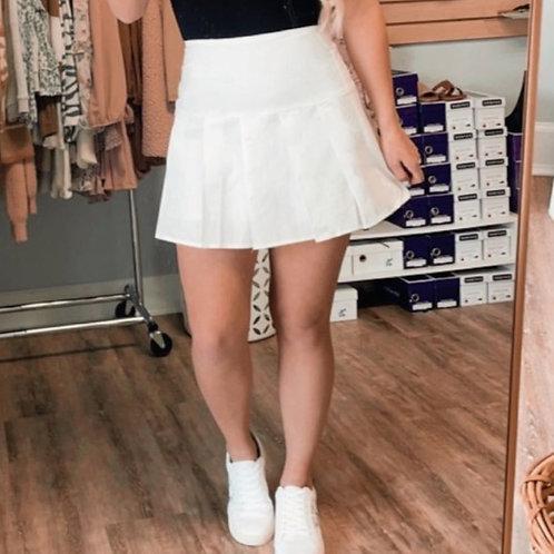 Poplin Pleated Skirt