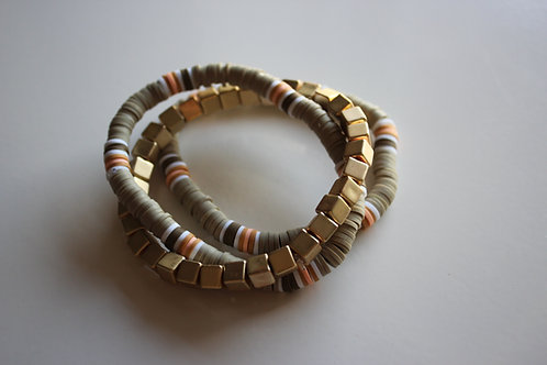 Green Bracelet Set