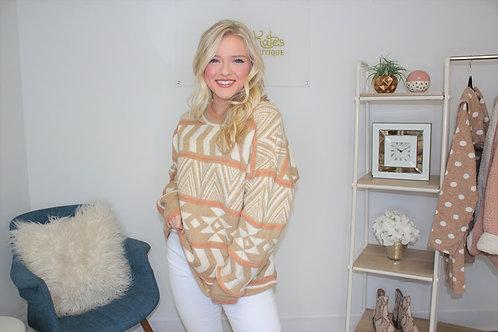 Oversized Geometric Sweater
