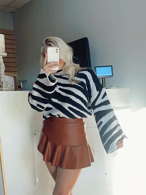 Chunky Zebra Sweater