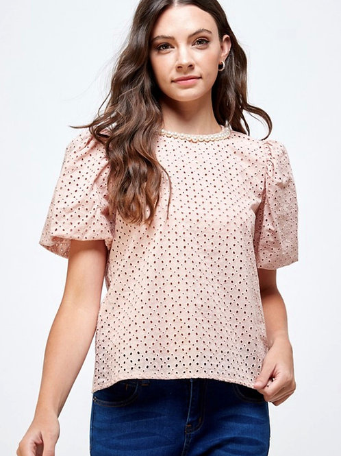 Pearl Neck Top