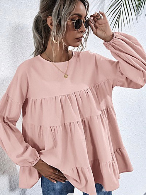 Pink tiered Top