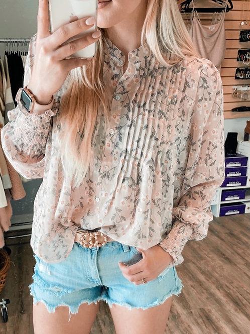 Soft Lavender Floral Top