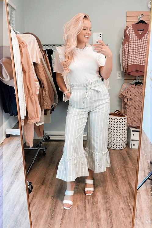 Heather Grey Ruffled Pants