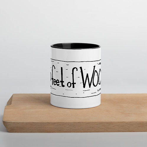 3 feet of Wood Mug with Color Inside