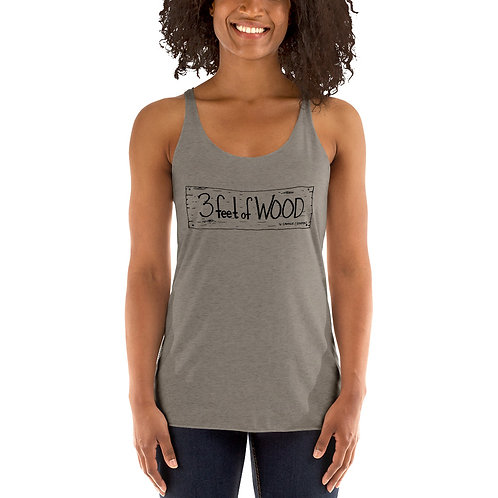 3 feet of Wood Women's Racerback Tank