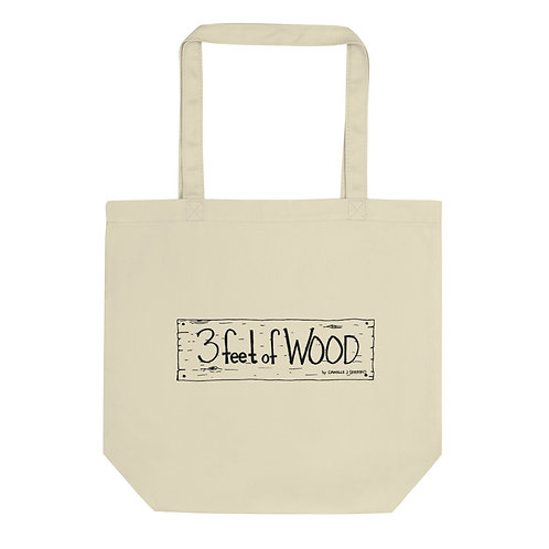 3 feet of Wood Eco Tote Bag
