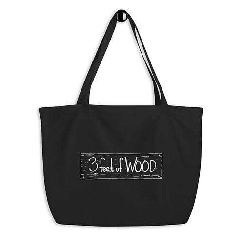 3 feet of Wood Large organic tote bag