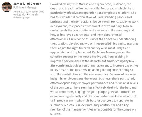 James Cramer - Project Manager