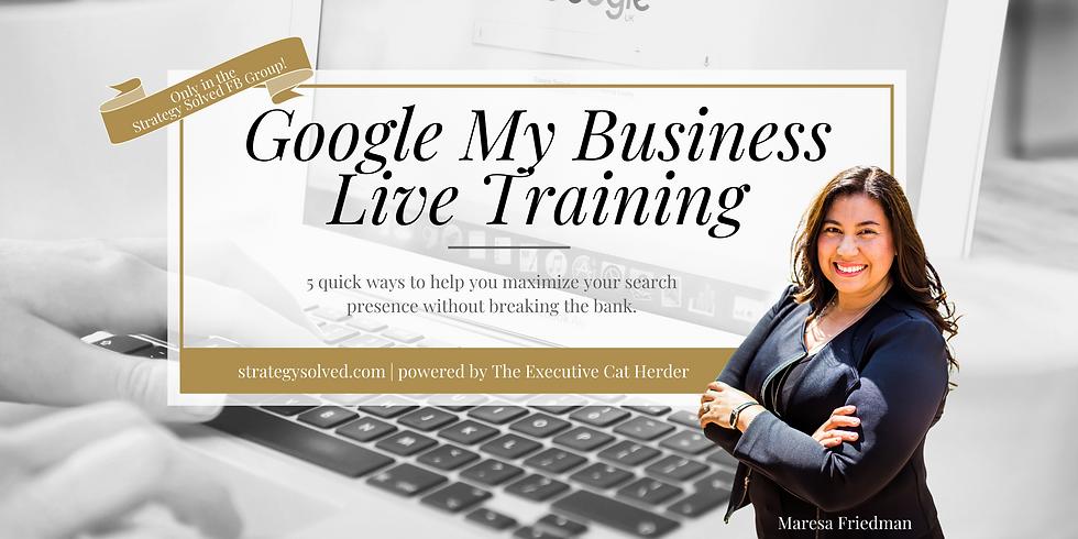 Google My Business Live Training