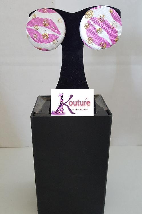 KT Signature Kisses Brand Earrings (Pink)