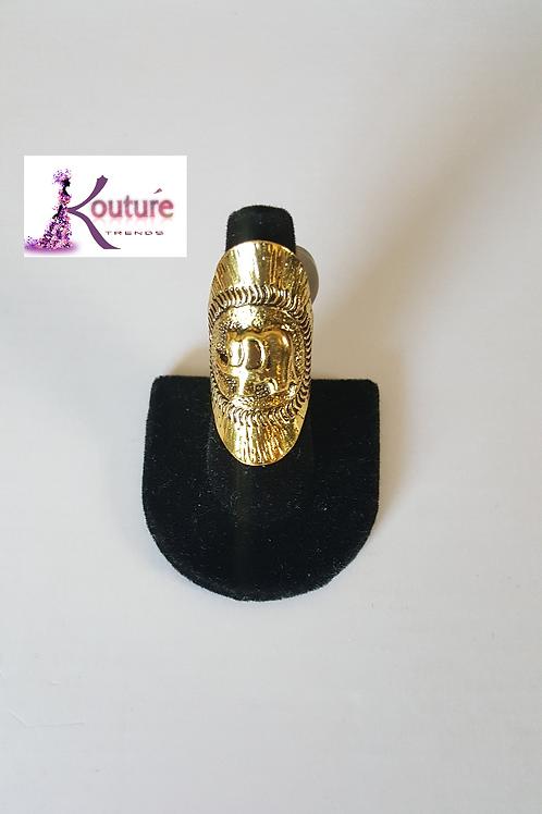 Elephant Index Finger Ring (Gold)