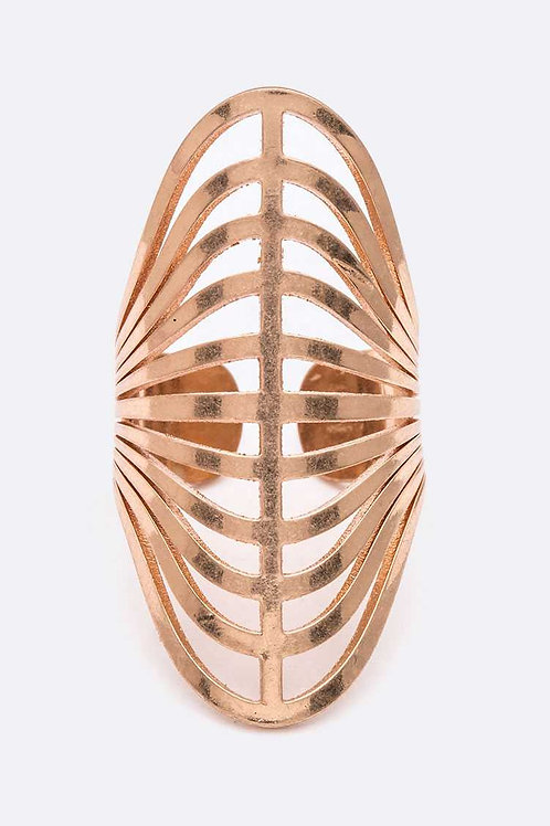 Laser Cut Iconic Adjustable Ring (Copper)