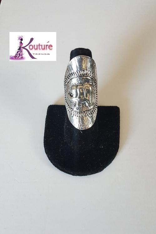 Elephant Index Finger Ring (Silver)