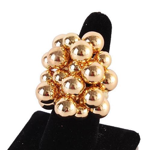 Gold Chunky Ball Ring