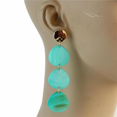 Shell Fashion Dangling Earrings (Turquoise)